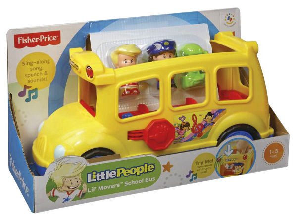 FISHER - PRICE - LITTLE - PEOPLE - WESOŁY - AUTOBUS - SZKOLNY - CBL55