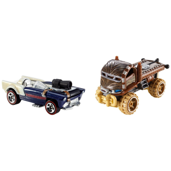 HOT - WHEELS - SAMOCHODZIKI - HAN - SOLO - CHEWBACCA - STAR - WARS - CGX02-CGX03